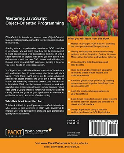 MASTERING JAVASCRIPT OBJECT-ORIENTED PROGRAMMING By Andrea Chiarelli *BRAND NEW* |