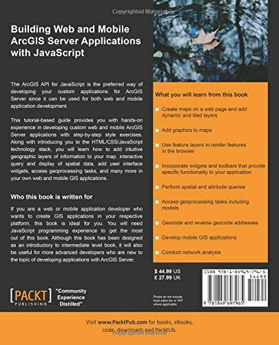 BUILDING WEB AND MOBILE ARCGIS SERVER APPLICATIONS WITH By Eric Pimpler *VG+* |