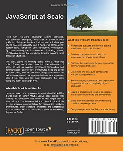 JAVASCRIPT AT SCALE By Adam Boduch *Excellent Condition* |