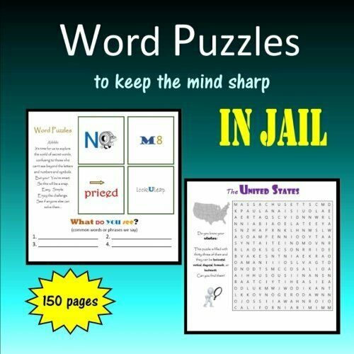 WORD PUZZLES TO KEEP MIND SHARP IN JAIL By C. Mahoney *Excellent Condition* |
