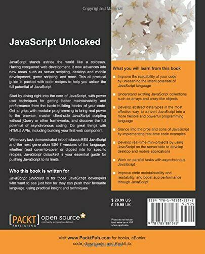 JAVASCRIPT UNLOCKED By Dmitry Sheiko *Excellent Condition* |