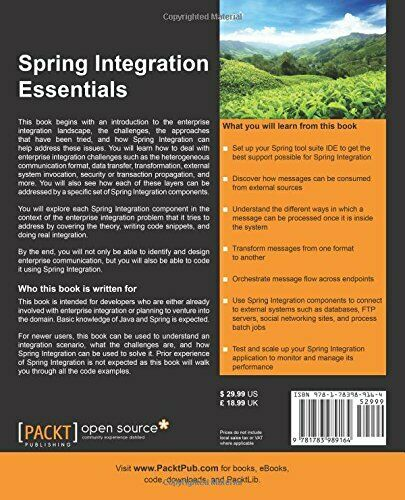 SPRING INTEGRATION ESSENTIALS By Chandan Pandey **BRAND NEW** |