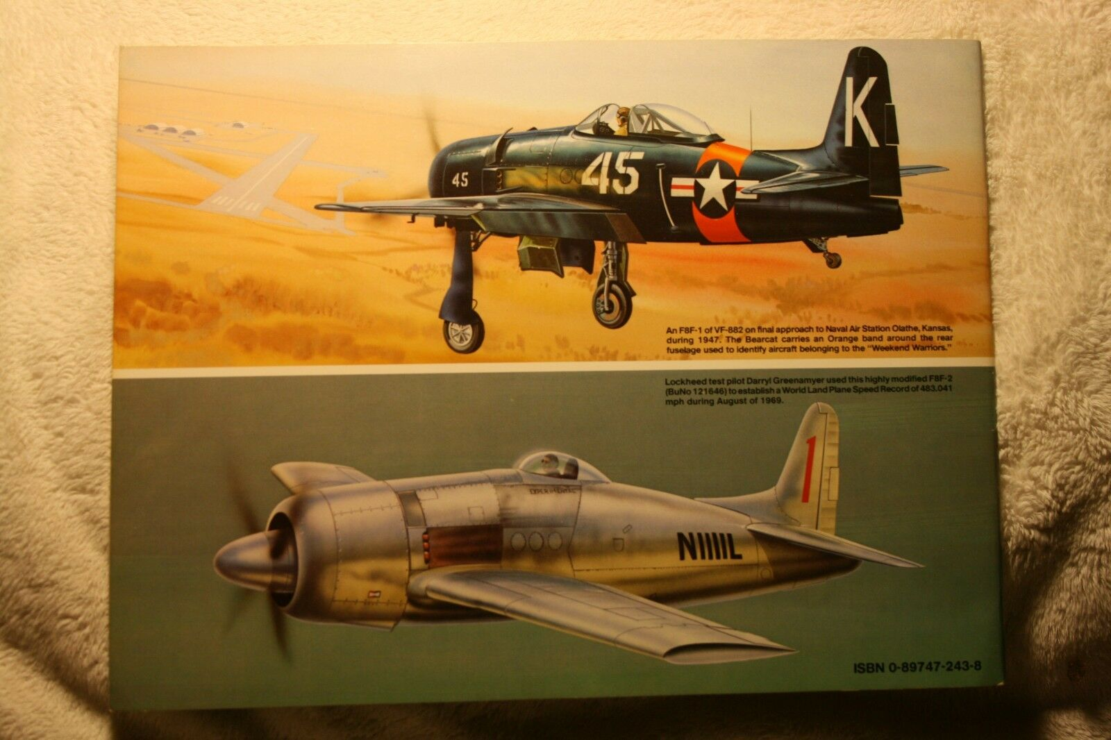 F8F Bearcat in Action Squadron Signal Book # 1099 Very Good Condition  