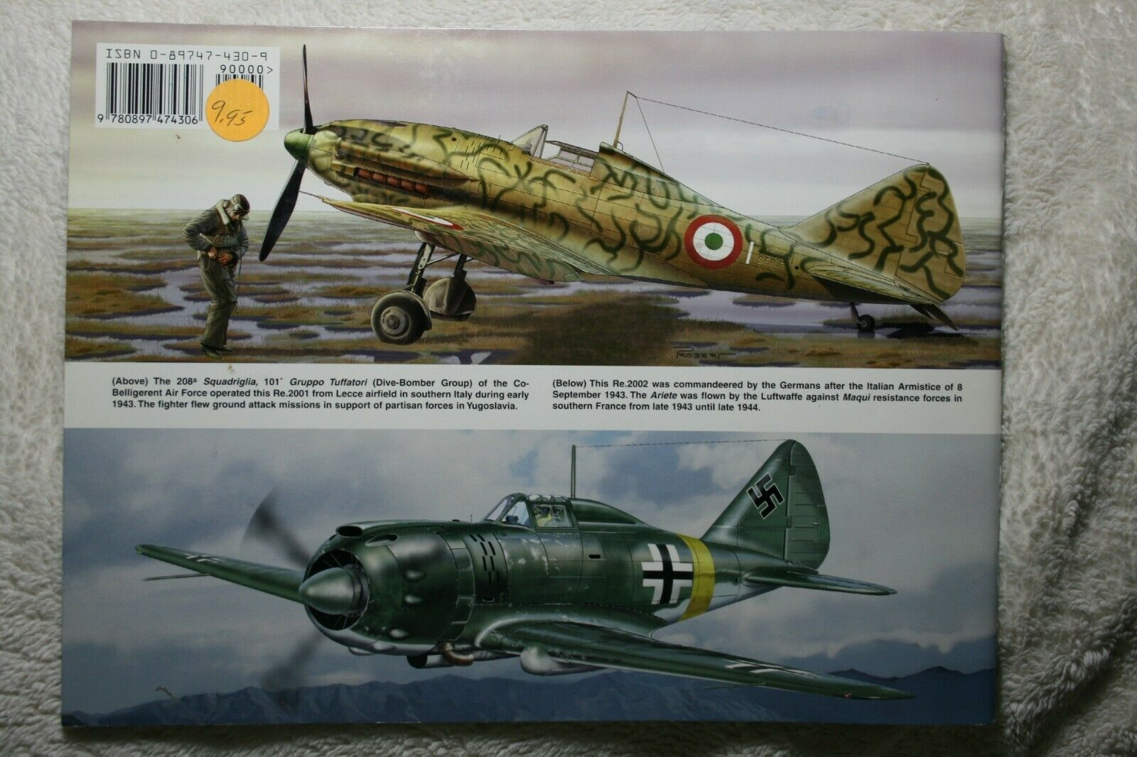 Reggiane Fighters in Action Squadron Signal Book #1177 Very Good  