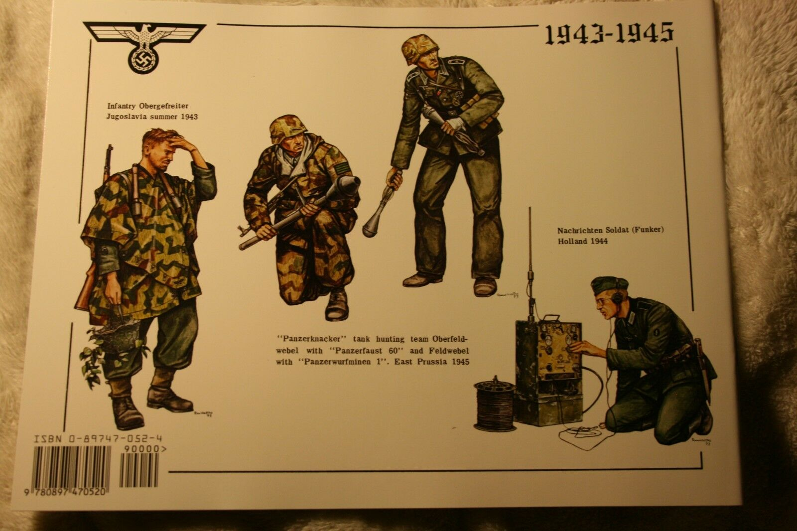 German Infantry in Action Squadron Signal Armor Book # 3002 Very Good Condition |