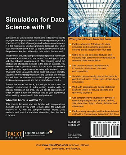 SIMULATION FOR DATA SCIENCE WITH R By Matthias Templ **BRAND NEW** |