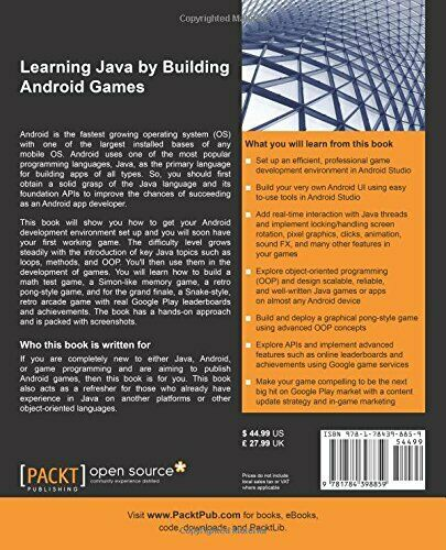 LEARNING JAVA BY BUILDING ANDROID GAMES: EXPLORE JAVA By John Horton **Mint** |
