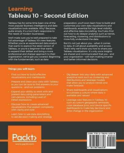 LEARNING TABLEAU 10 – SECOND EDITION: BUSINESS By Joshua N. Milligan **Mint** |