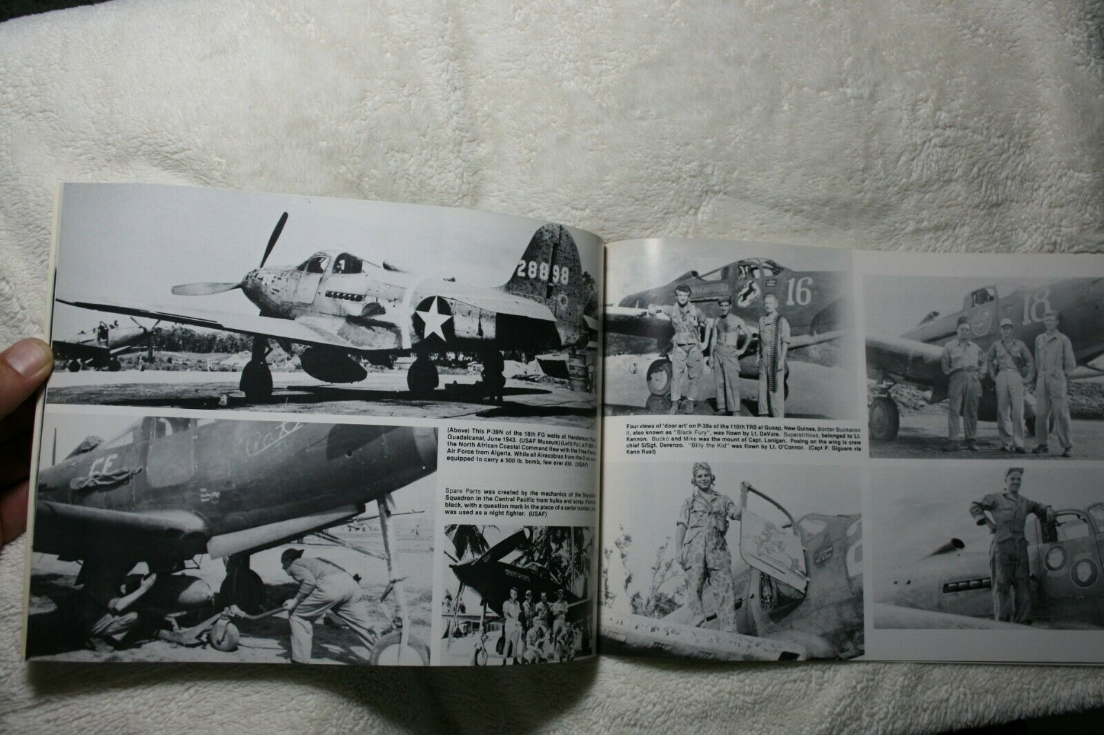 P-39 Airacobra in Action Squadron Signal Book # 1043 Very Good Condition |