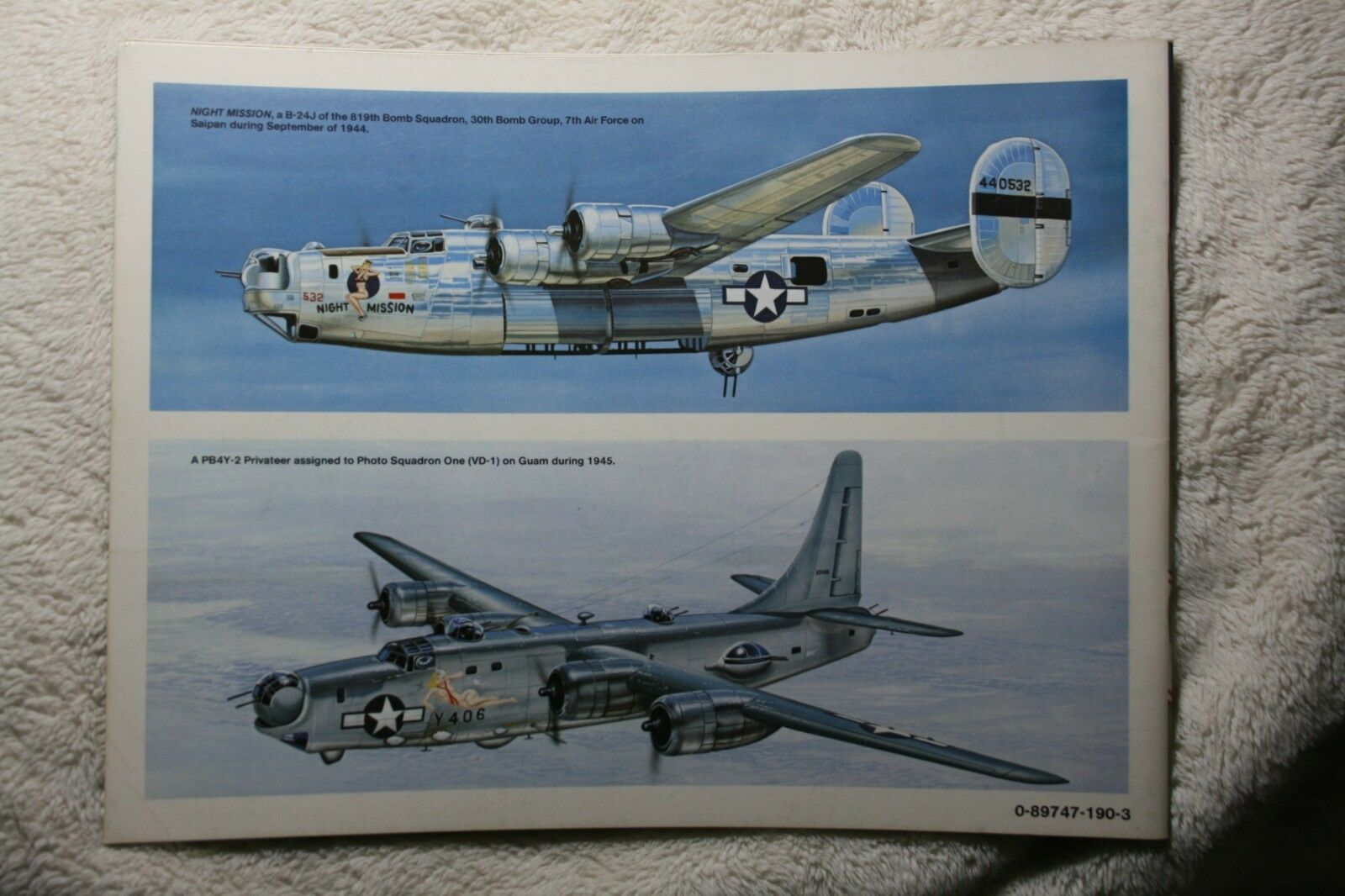 Consolidated B-24 Liberator in Action Squadron Signal Book # 1080 Very Good |