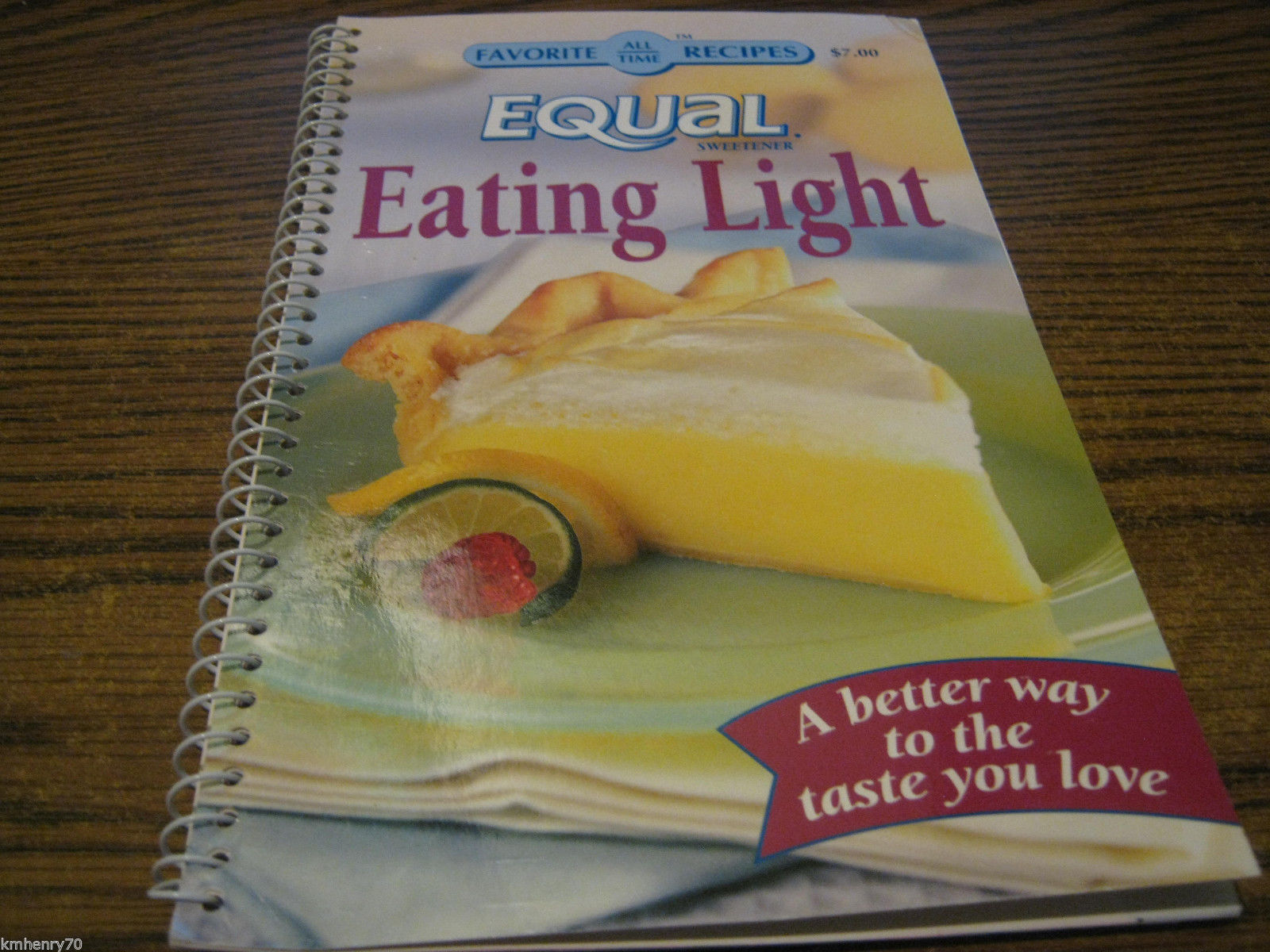 Favorite All Time Recipes Equal Eating Light Spiral Cookbook Illust Free Ship |