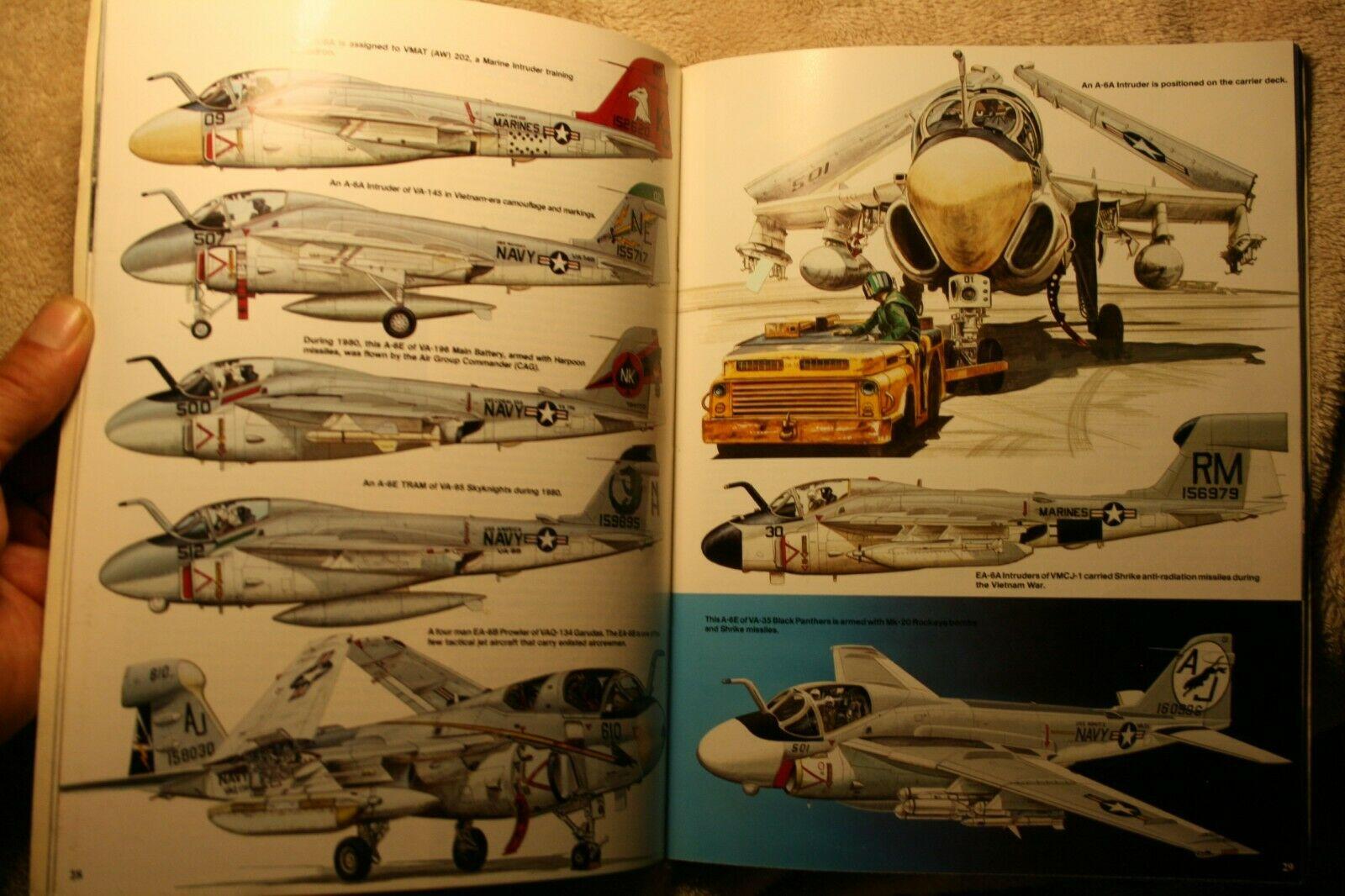 A-6 Intruder Modern Military Series Squadron Signal Book #5007 Very Good Cond. |