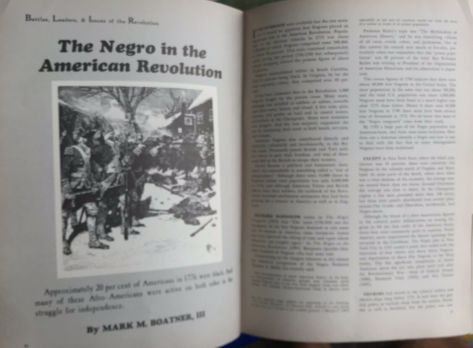 VINTAGE AMERICAN HISTORY ILLUSTRATED LOT OF 2 COWPENS NEGROES IN REVOLUTION |