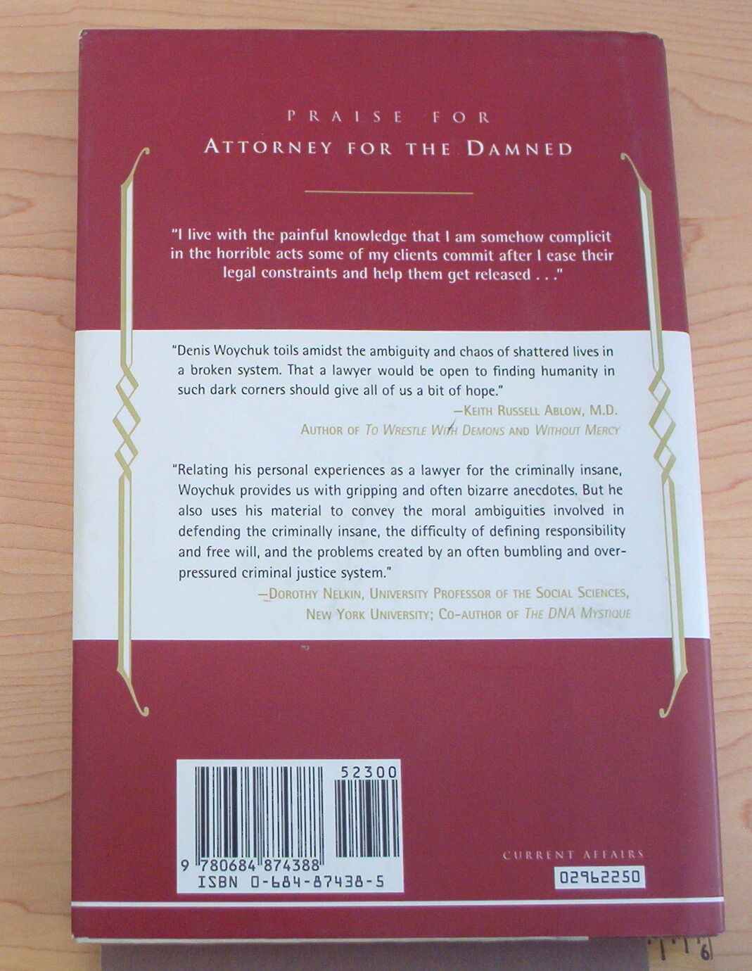Attorney for the Damned:A Lawyer's Life with the Criminally Insane by Woychuk… |