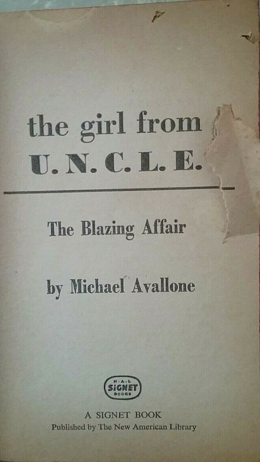 GIRL FROM U.N.C.L.E. #2 (PB 1st printing) The Blazing Affair by Michael Avallone |