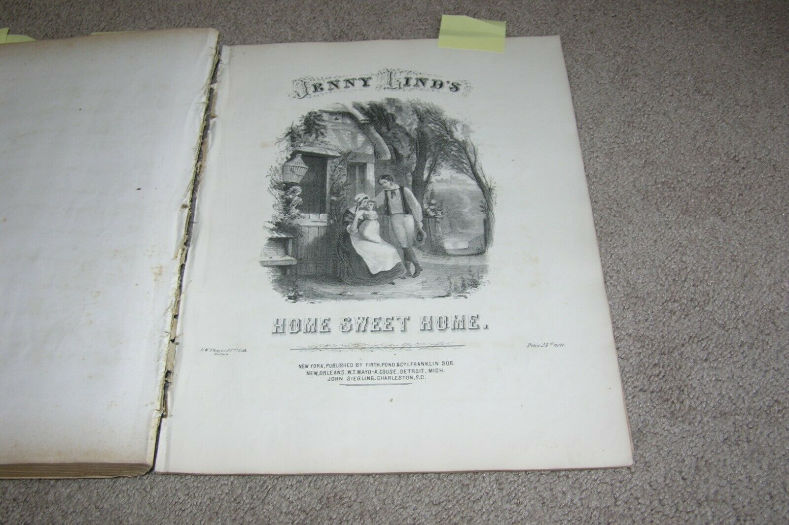 Antique Sheet Music Book c.1847-1852 some scarce, mostly Polka 20+/- Songs |