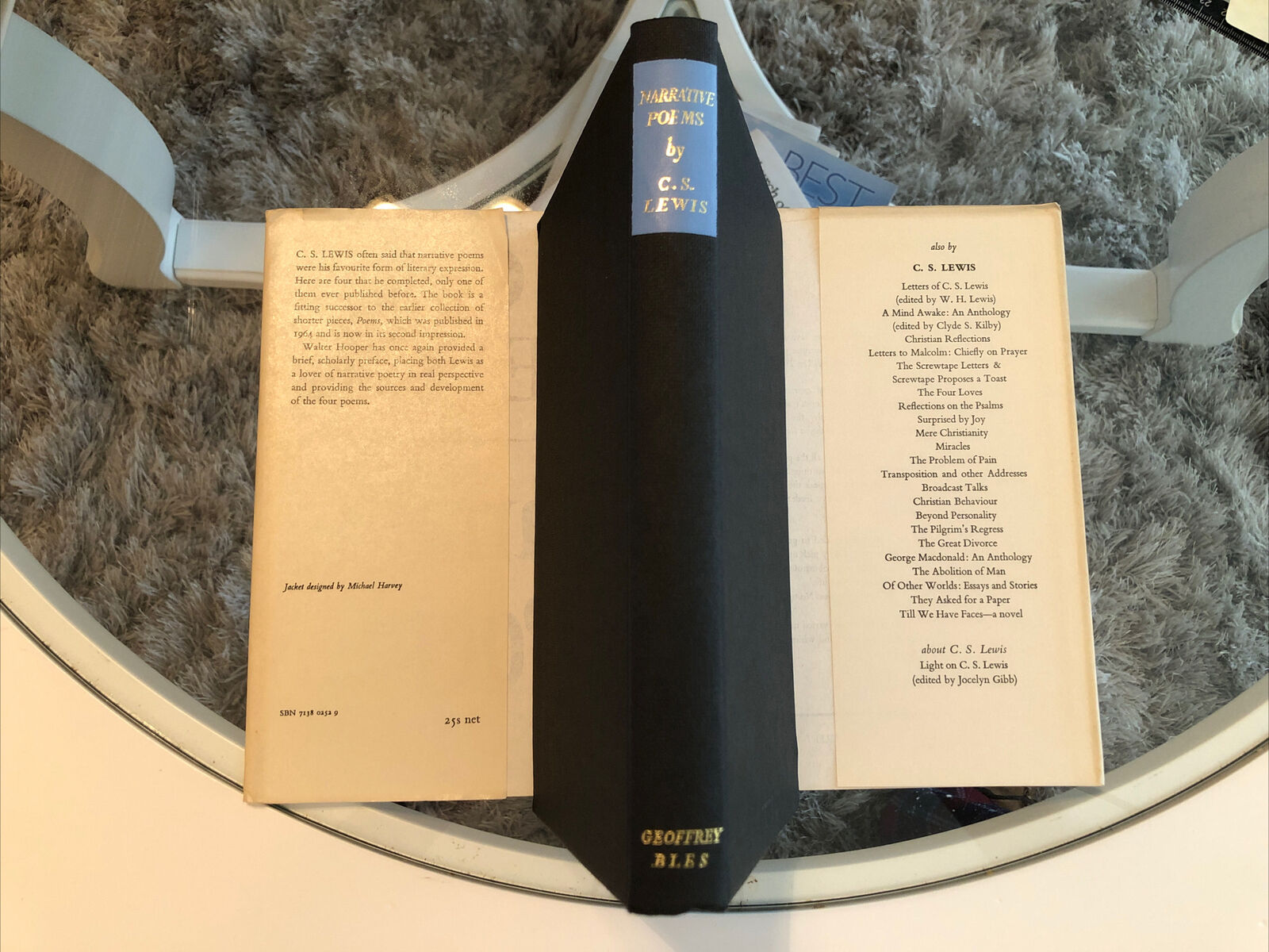 *VERY RARE* UK First Edition C. S. Lewis Narrative Poems Bright in ADJ VG+/VG+  