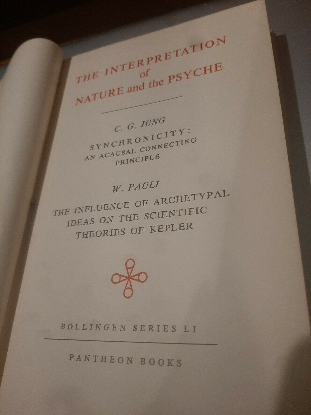 The Interpretation of Nature and the Psyche  (1st THUS) by C.G. Jung; W. Pauli |