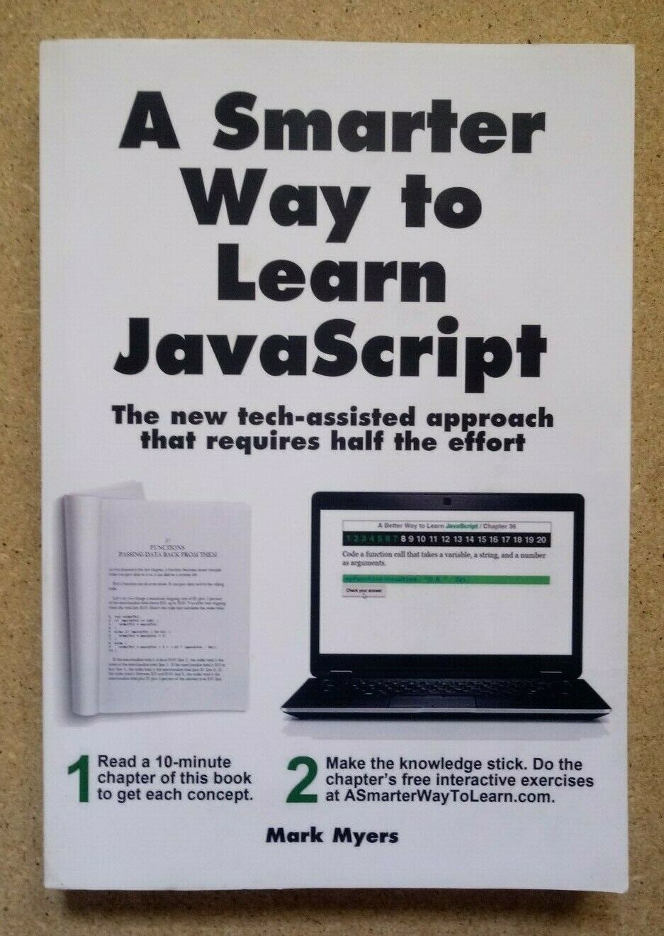 A SMARTER WAY TO LEARN HTML & CSS & JAVASCRIPT BY MARK MYERS (LOT OF 2) |