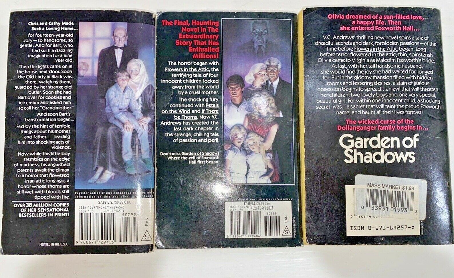 5 FIRST Editions V.C. Andrews: Flowers in the Attic, Petals in the Wind & More |