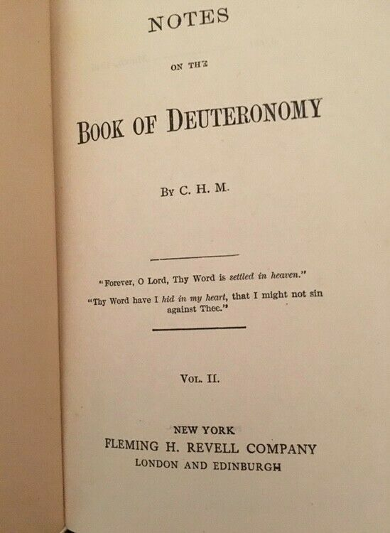 Rare 1st Edition Commentaries on Genesis to Deuteronomy by C.H. Mackintosh |