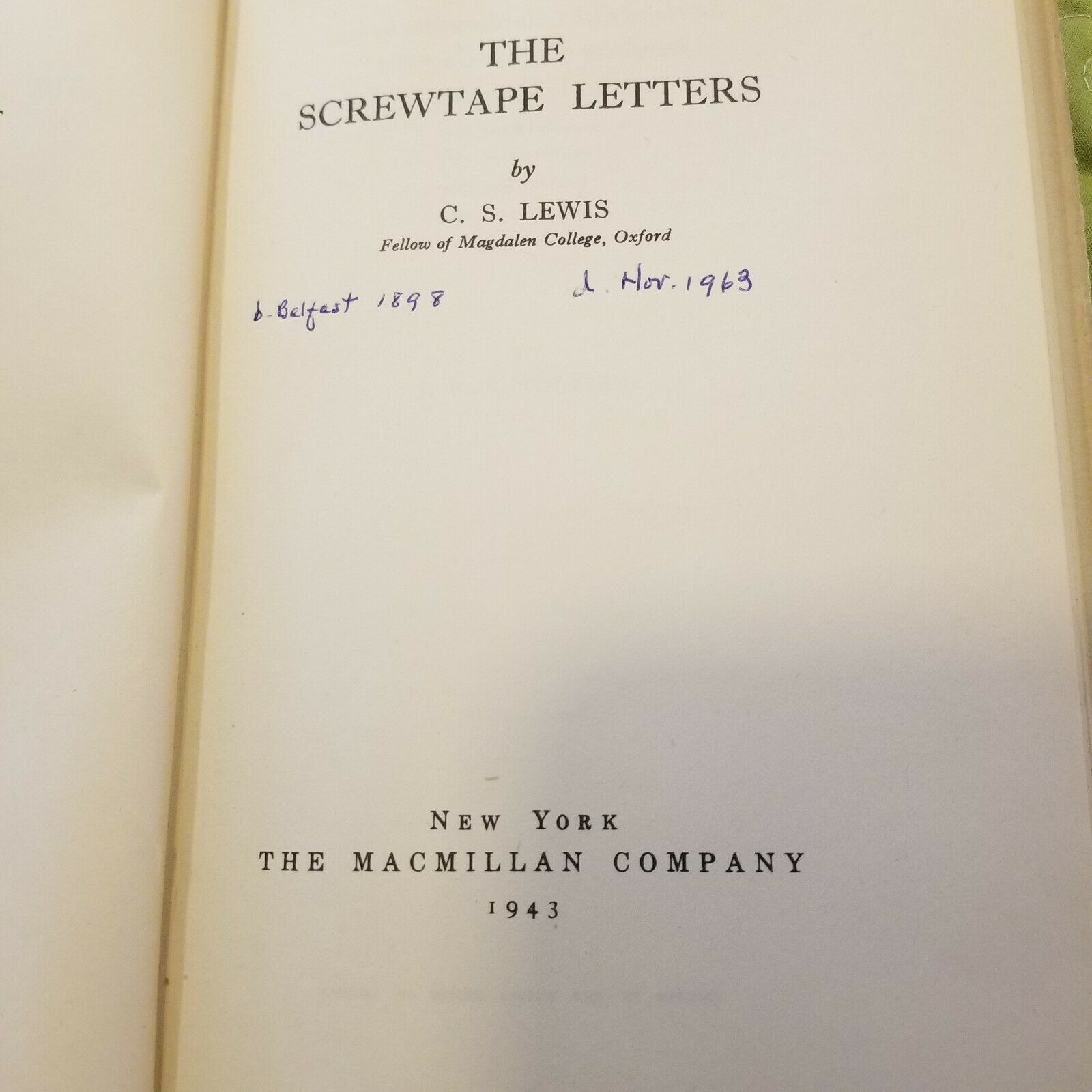 The Screwtape Letters by C.S. Lewis |