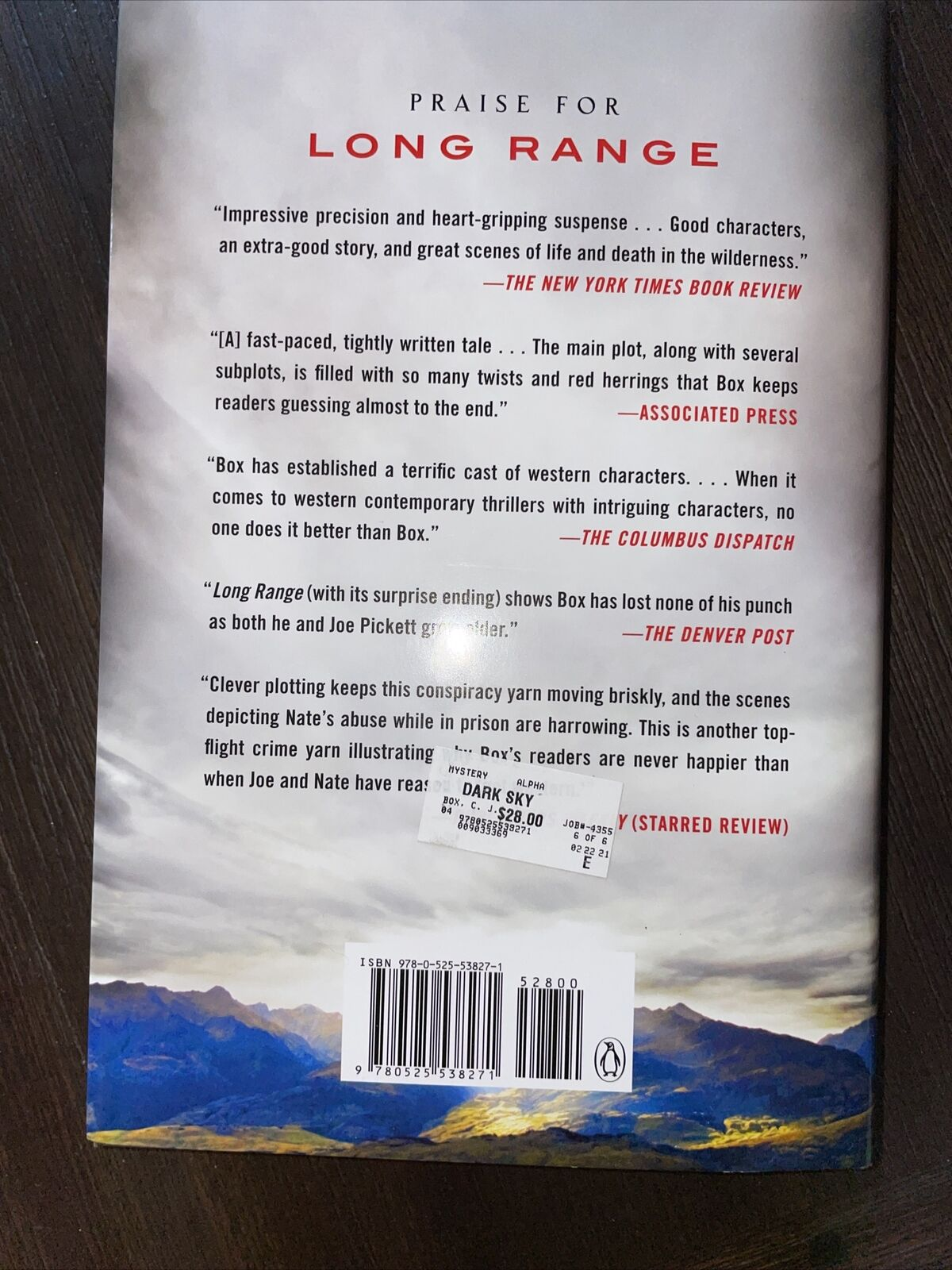 DARK SKY C.J.BOX/JOE PICKETT NOVEL #21 HARDCOVER |