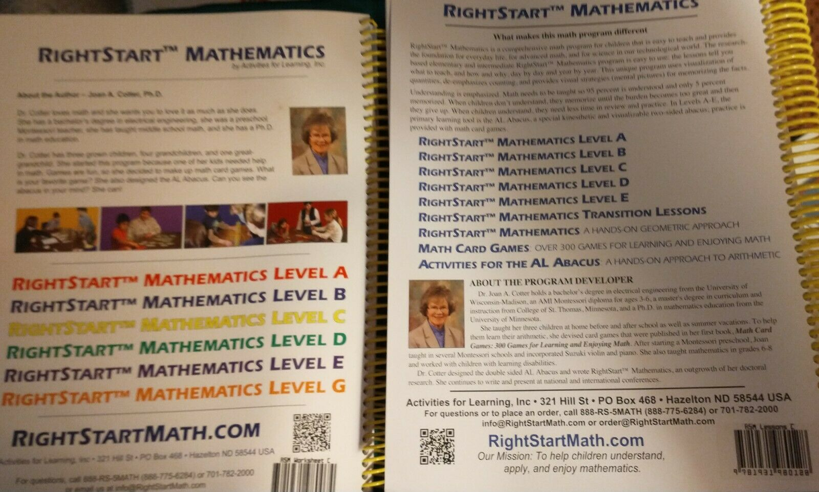 Rightstart Mathematics Level C Lessons and Worksheets 2 Books 2014 |