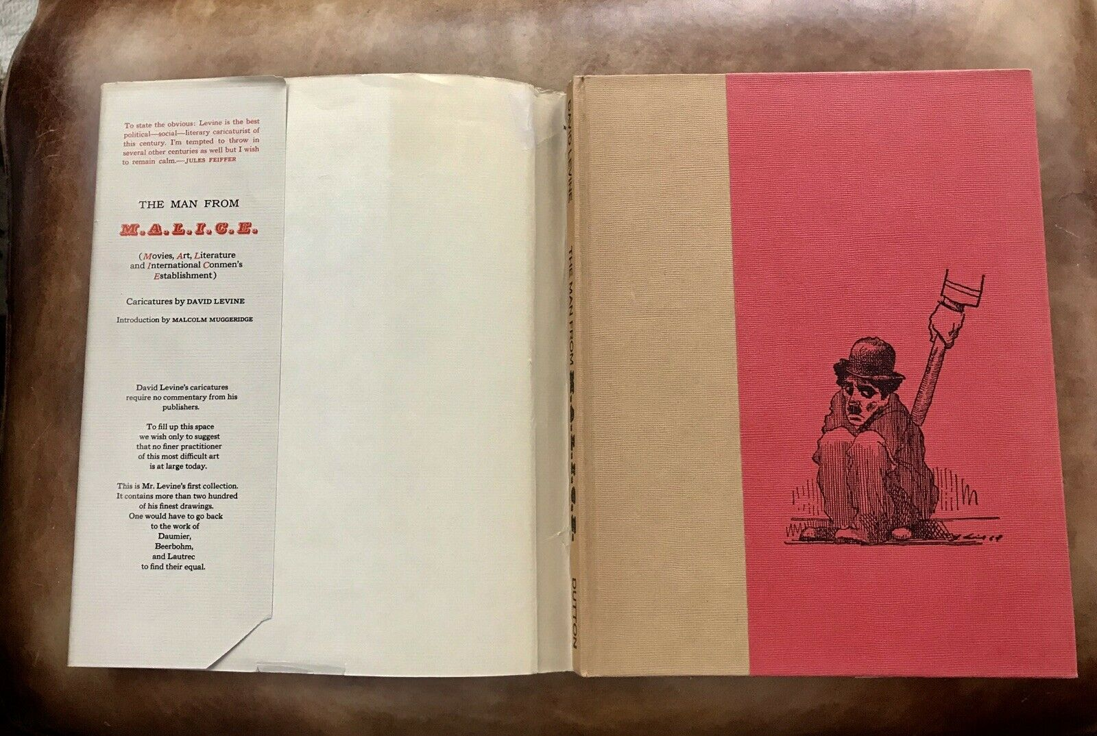 Man from M.A.L.I.C.E. Caricatures Levine Fitzgerald T Williams Jack Kerouac 1966 |