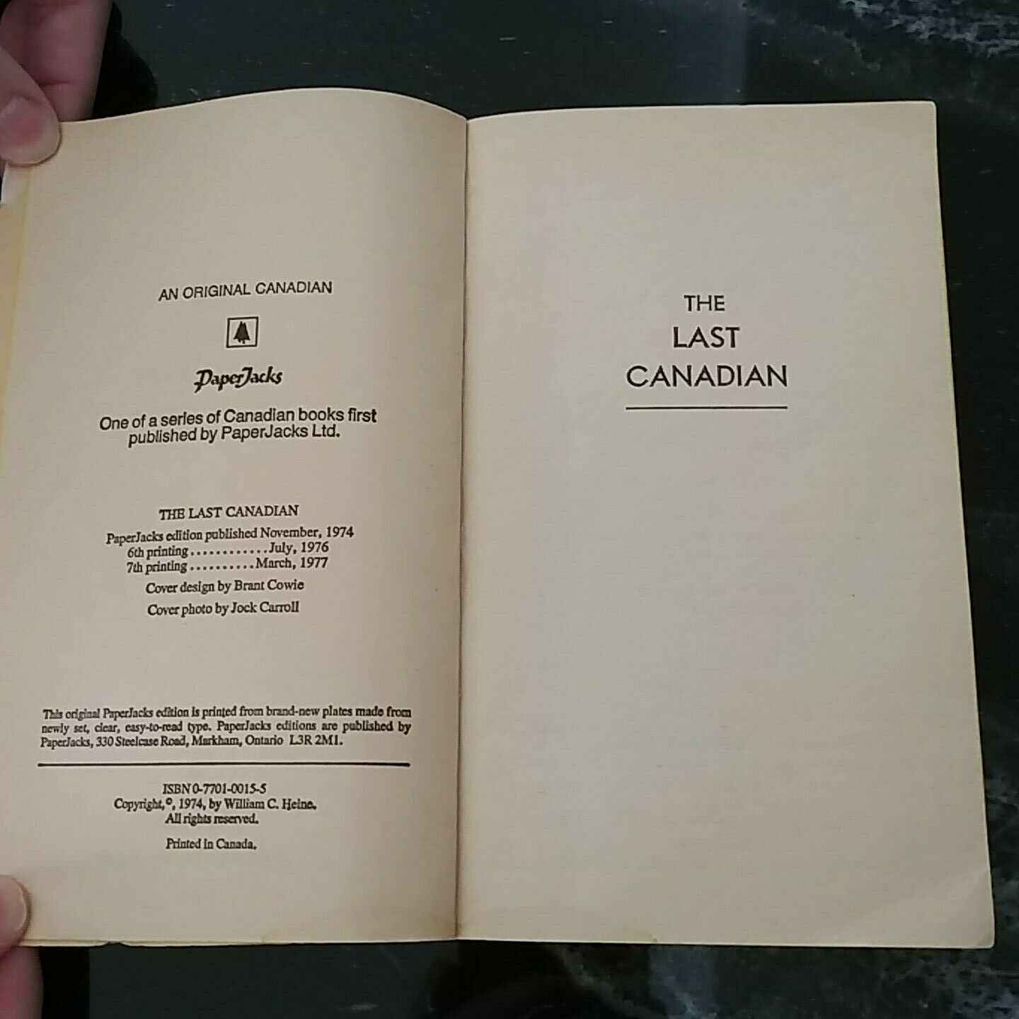 The Last Canadian By William C. Heine  