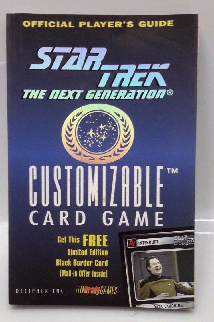 1995 Official Player's Guide to Star Trek:Next Generation Customizable Card Game |