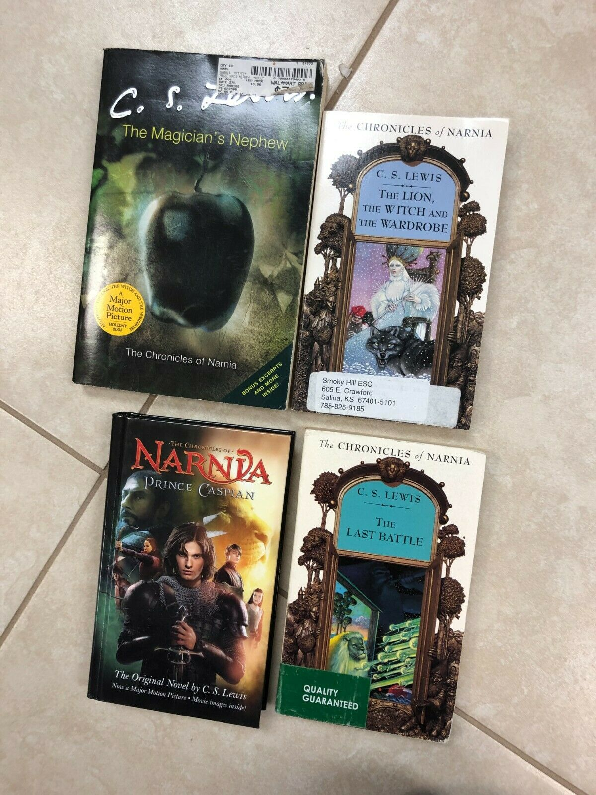 4 CHRONICLES OF NARNIA books by C. S. Lewis, 4 books |