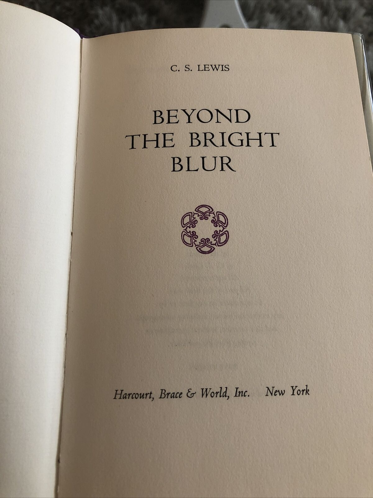 C. S. Lewis Beyond Bright Blur 1st Limited Edition *RARE* w/Glassine Cover VG/VG |
