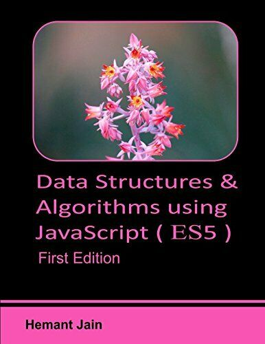 DATA STRUCTURES & ALGORITHMS USING JAVASCRIPT By Hemant Jain **BRAND NEW** |