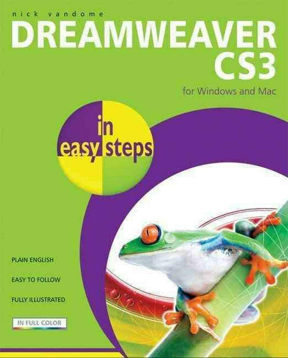 Dreamweaver CS3 in Easy Steps by Nick Vandome (English) Paperback Book Free Ship |