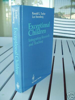 EXCEPTIONAL CHILDREN BY RONALD TAYLOR 1989 |