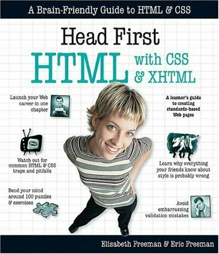 HEAD FIRST HTML WITH CSS & XHTML By Eric Freeman *Excellent Condition* |