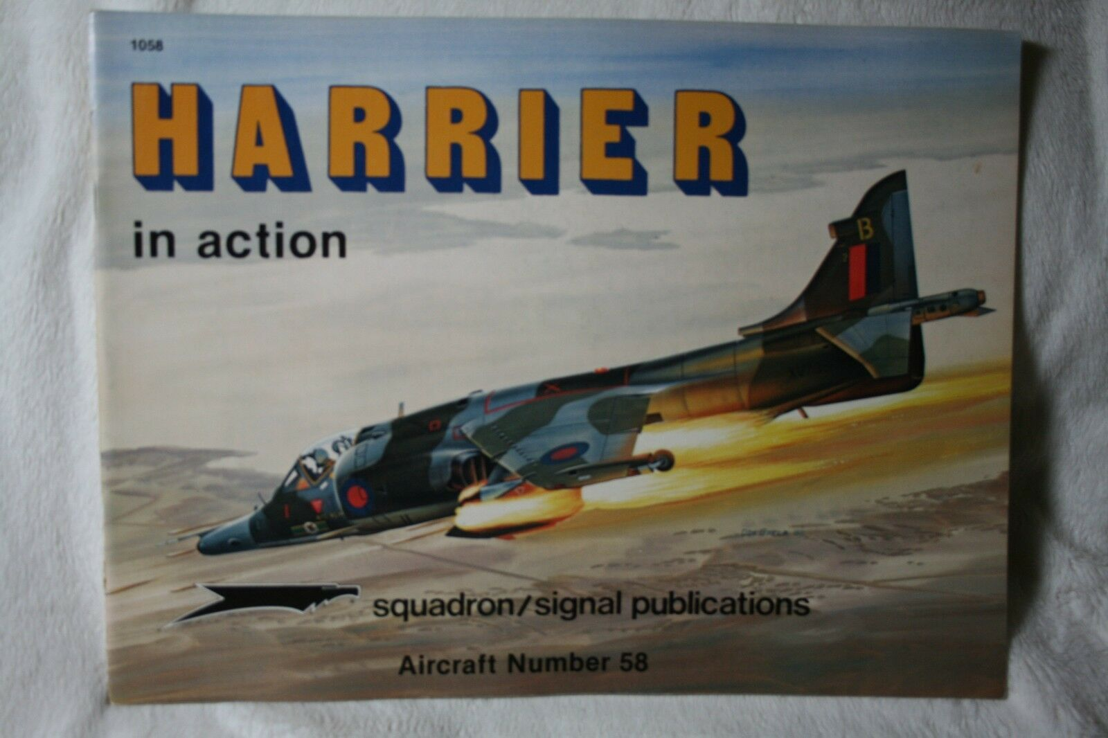 Harrier in Action by Don Linn Squadron Signal Book # 1058 Very Good Condition |