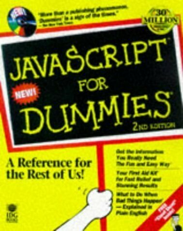 JAVASCRIPT FOR DUMMIES, 2ND EDITION By Emily A. Vander Veer **Mint Condition** |