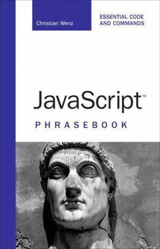 JAVASCRIPT PHRASEBOOK By Christian Wenz **BRAND NEW**