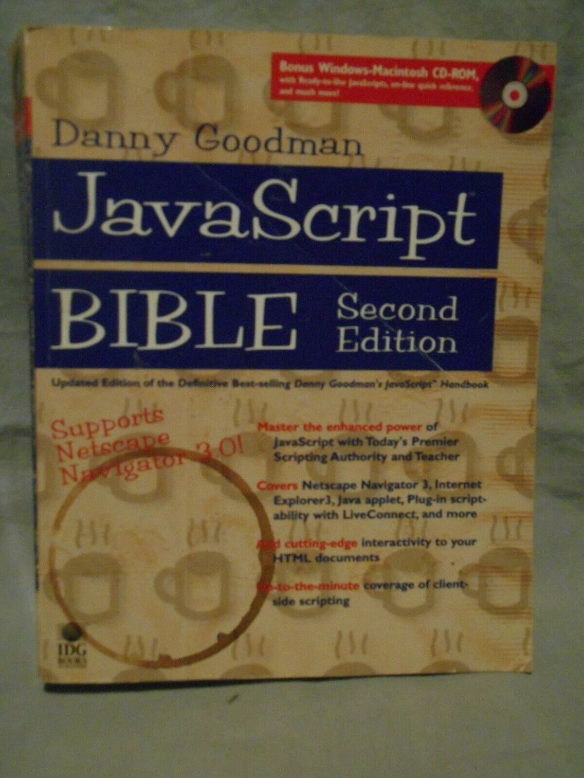 Java Script Bible 2nd edition with CD. |