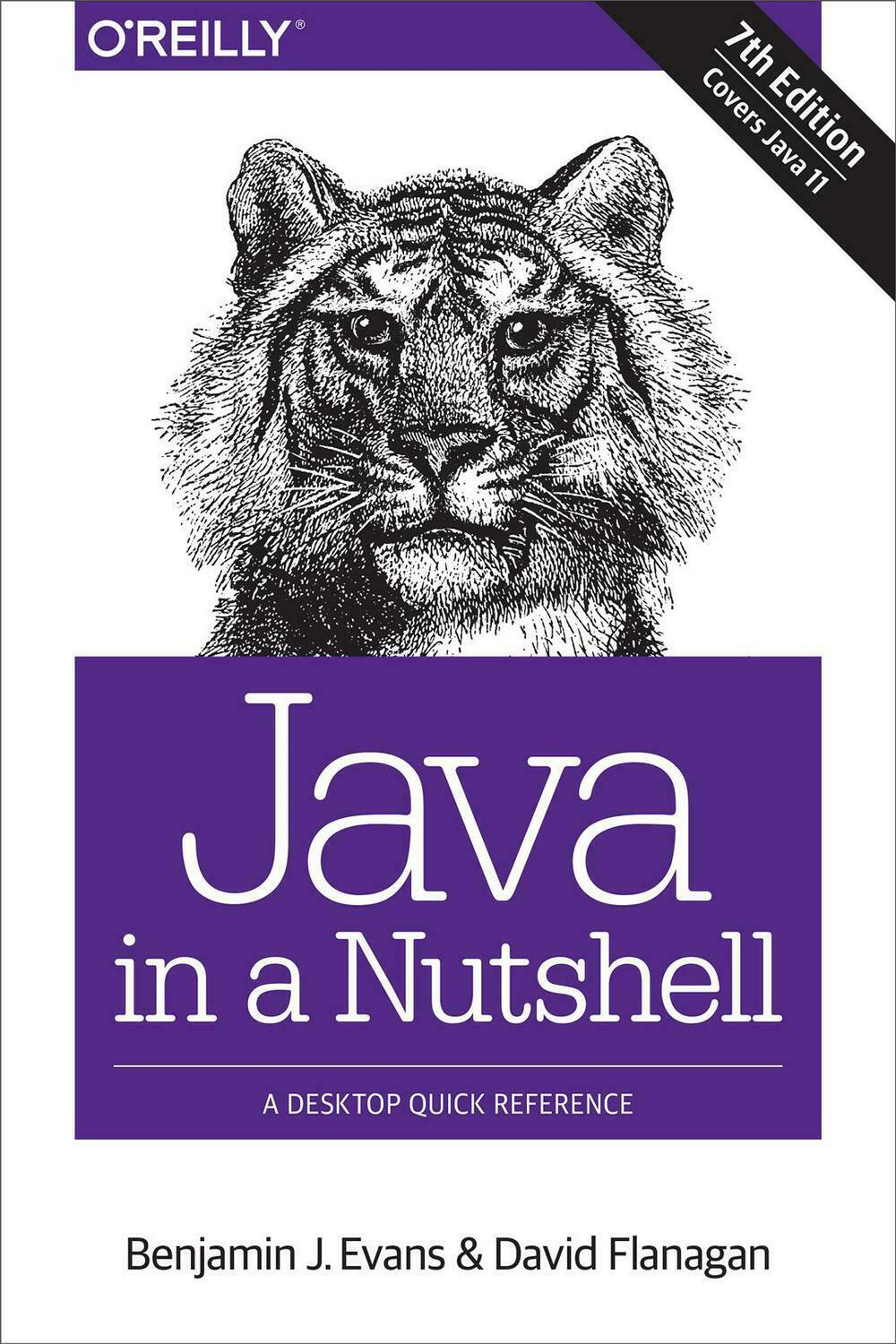 Java in a Nutshell 7e by Ben Evans Paperback Book Free Shipping! |