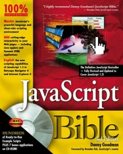 JavaScript Bible by Goodman, Danny Mixed media product Book The Fast Free