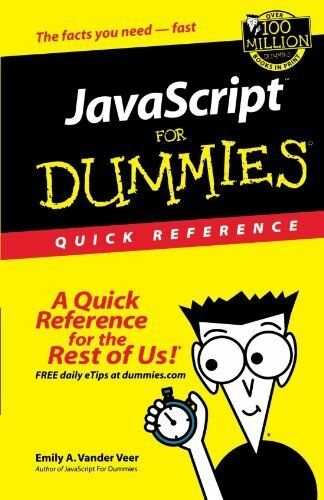 JavaScript For Dummies Quick Reference |