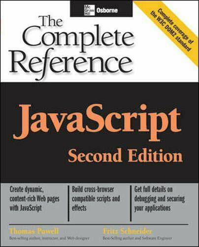 JavaScript: The Complete Reference, Second Edition by Powell, Thomas|Schneide… |