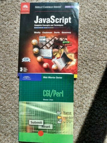 JavaScript and CGI Perl books: Great condition! |