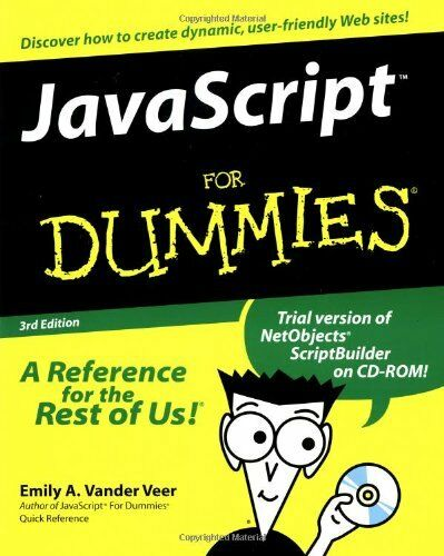 Javascript For Dummies by Vander Veer, Emily A. 0764506331 The Fast Free |
