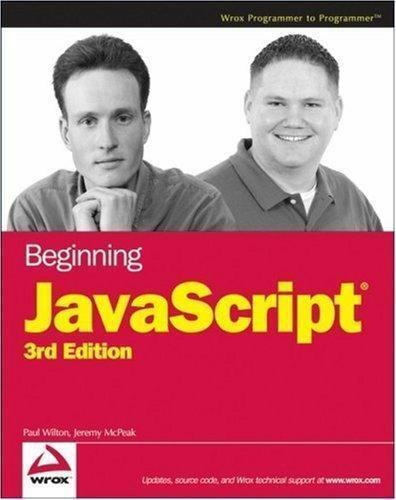 Javascript by Wilton, Paul -ExLibrary
