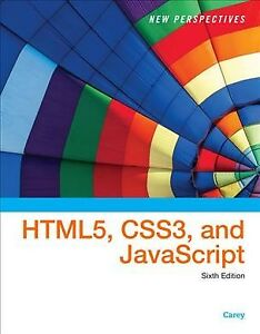 New Perspectives on HTML5, CSS3, and JavaScript, Hardcover by Carey, Patrick,… |