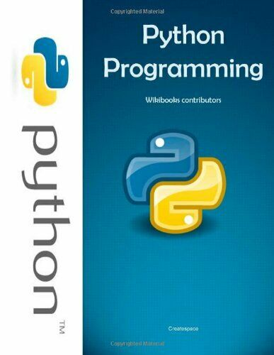 PYTHON PROGRAMMING By Wikibooks Contributors |